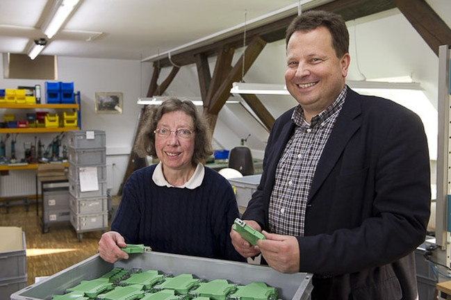 Monika Dämmrich mit Chef Jens Fillies. Foto: Thorsten Arendt, Münster.